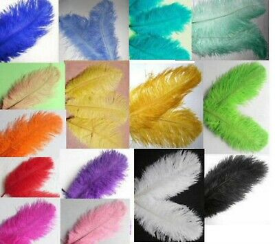 $5.48 • Buy 5 OSTRICH Feathers 10-12  CHOOSE COLOR Or MIX Drabs Plumes Feather