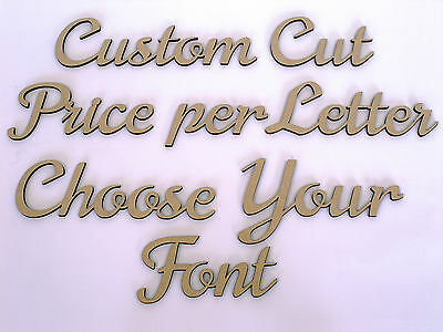 AU1.45 • Buy Custom Wooden Names Craft Wood MDF Cut Out 5cm Tall - Price Is Per Letter