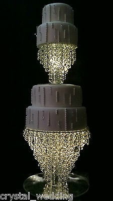 £222 • Buy Chandelier Cake Stand  Crystal Cake Stand For Wedding In 6  To 20  Round /square