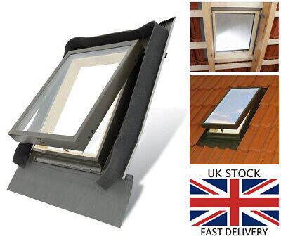 Fenstro Rooflite Double Glazed Skylight Access Roof Window 45x55 With Flashing  • 85£