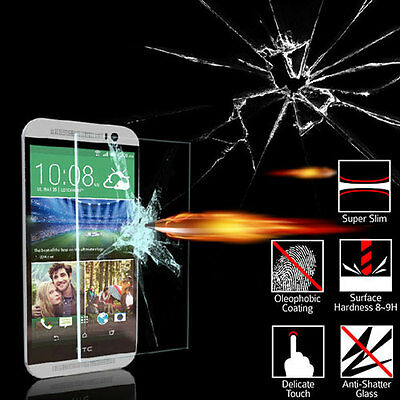 AU6.99 • Buy Tempered Glass Screen Protector Film HTC ONE M8 Mini 2 / Desire 610 / 510 / EYE