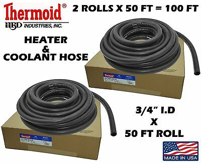 $103.44 • Buy 2 Rolls Thermoid 3/4 X 50' = 100' Total Coolant Heater Hose All Makes & Models