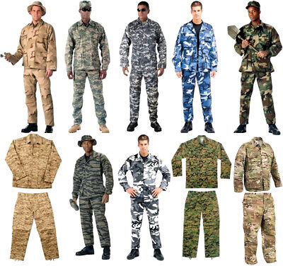 $40.99 • Buy BDU Cargo Pants OR Shirt Camouflage Tactical Military Combat Uniform Rothco
