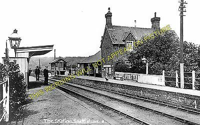 Snettisham Railway Station Photo. Dersingham - Heacham. Hunstanton Line. (4) • 3.50£