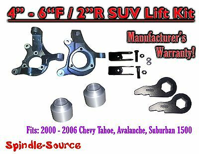 $404.25 • Buy 00-06 Chevy Suburban Tahoe Avalanche 1500 4-6  Lift Kit Spindle Torsion Key Ext