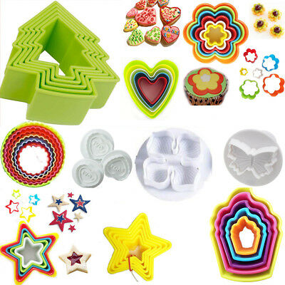 Cookie Cutter Mould Mold Cake Biscuit Bake Pastry Cupcake Fondant Shape Decorate • 5.95£