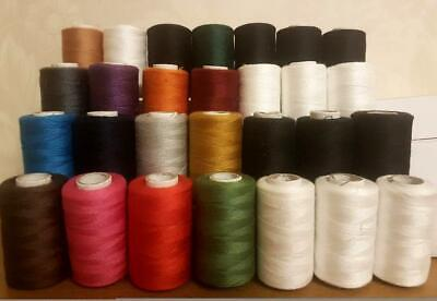 £18.98 • Buy 40 Polyester Machine Art Thread Most Basic Colors For Janome Brother Assorted
