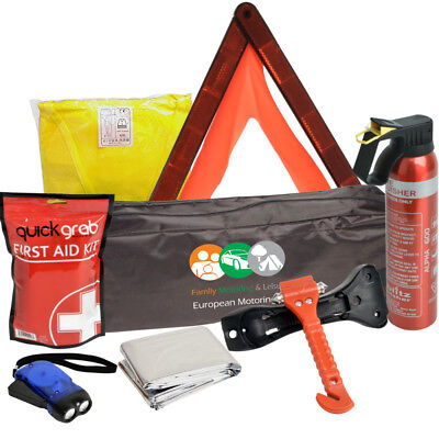£24.19 • Buy Car Winter Safety Kit Fire Extinguisher Life Hammer Wind Up Torch First Aid Kit