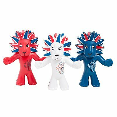 OLYMPIC MASCOT TEAM GB FIGURINE - PRIDE THE LION (Pack Of 3) - NEW • 3.85£