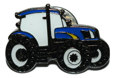 Blue Tractor Pin Badge Gift/Novelty Enamel Farming Hats Bags Blue/yellow Vehicle • 2.69£