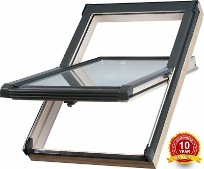£184 • Buy Wooden Timber Roof Window 55 X 98cm Double Glazed Skylight Centre Pivot Rooflite