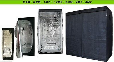 £32.99 • Buy Indoor Portable Grow Tent Green Room Silver Mylar Lined Hydroponics Carbon