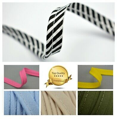 100% Cotton Bias Piping Trimming Insertion Cord Sewing Dressmaking Cushions • 1.70£