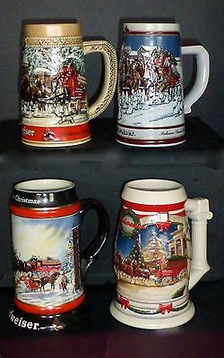 $ CDN90.70 • Buy Budweiser Holiday Steins-lot Of 4- 3 Collector's Series & 2001 Holiday @ Capital
