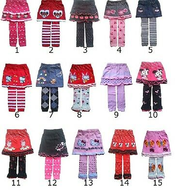 Kids Baby Girls Skirt With Leggings1 2 3 4 Years Outfit Children Clothing • 4.69£