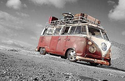 £35 • Buy VW Desert Camper Van Stretched Canvas Wall Art Poster Print Surfing Campervan
