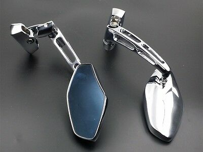 $34.90 • Buy Chrome Billet Aluminum Rearview Racing Sport Mirrors For Suzuki GSXR Hayabusa