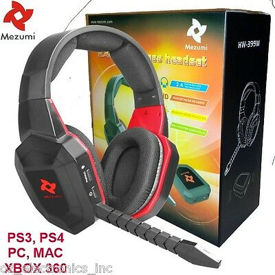 AU65 • Buy Universal Wireless Gaming Stereo Headset PS3 XBOX 360 PC XBOX ONE AUSTRALIA NEW