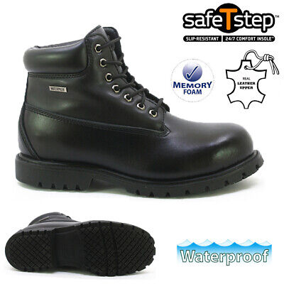 £19.95 • Buy Mens Leather Safety Work Boots Waterproof Steel Toe Cap Army Combat Hiking Size