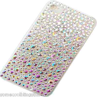 New 3d Bling Delux Diamante Stylish Clear Mobile Phone Case Cover For Htc Models • 4.99£