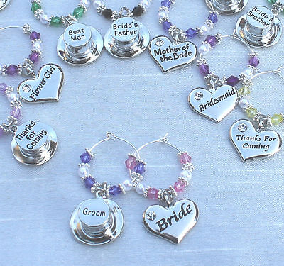 £1.09 • Buy Wedding Table Decorations - Champagne  Wine Glass Charms Favours - DIY