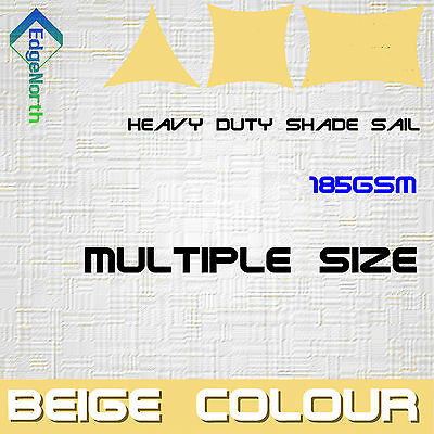AU71 • Buy Outdoor Sun Shade Sail - Sand / Beige Triangle Square Rectangle Canopy 185gsm