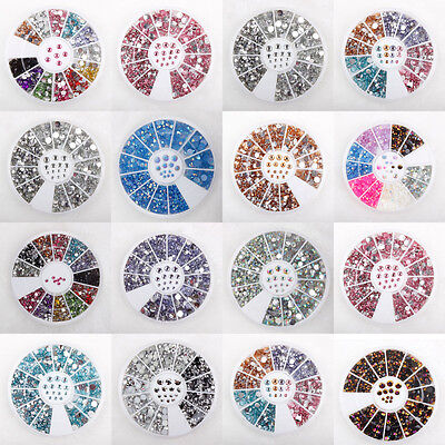 Various Rhinestones Pearls Wheels Nail Body Art Face Gems Festival Costume Craft • 1.99£