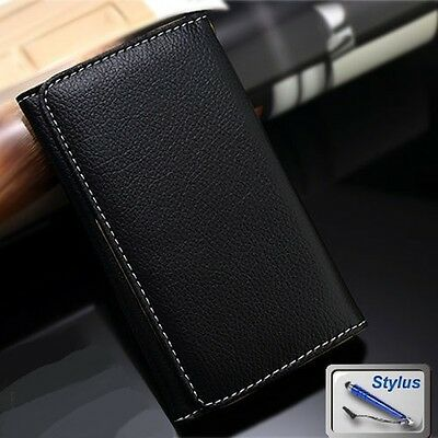 AU8.99 • Buy Black Wallet Money Card Leather Case Cover Huawei Ascend G510 G630 G620s +Stylus