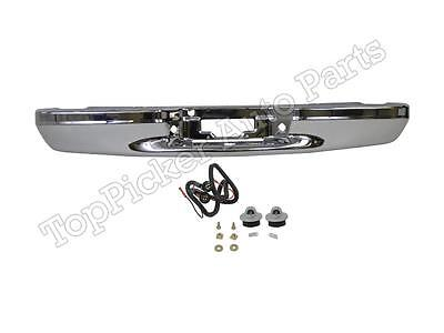 $306.03 • Buy Rear Bumper Chrome Face Bar License Lamps For 97-03 F150 SVT Lightning