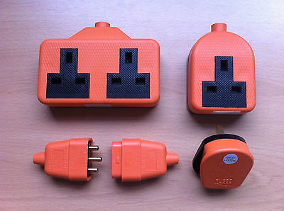 Heavy Duty High Impact Rubber 13a Plug Extension Socket Orange Great Value  • 4.96£