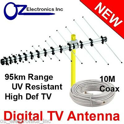 AU39 • Buy Greentek Outdoor TV Antenna UHF VHF FM 4 AUSTRALIAN Conditions Country Areas