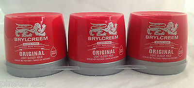 3 X 250ml BRYLCREEM BRYLCREAM ORIGINAL HAIR STYLING RED TUB STOCK UP • 10.99£