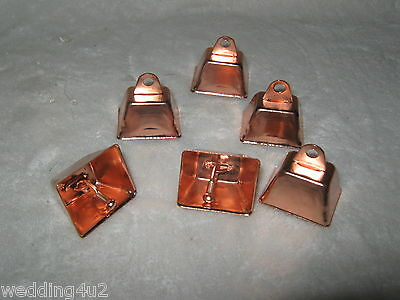 Copper Colored Bells (3) Dog Cat Pet Western Fishing Railroad Crafts Hunting • 5.95$