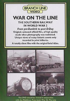 £10.99 • Buy War On The Line Dvd: Southern Railway World War Two Pre-Dunkirk, Post D-Day WW2