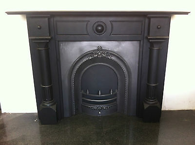£1450 • Buy Restored Original Antique Victorian Slate Surround Arched Insert Fireplace PK220