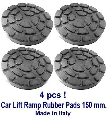 SET OF 4 PADS Ravaglioli 2 Post Car Lift Ramp Rubber Pads - 150 Mm - REAL RUBBER • 39.80£
