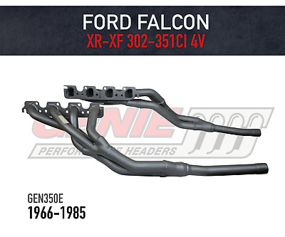 AU615 • Buy GENIE Headers / Extractors To Suit Ford Falcon XR-XF V8 TRI-Y 4V Heads