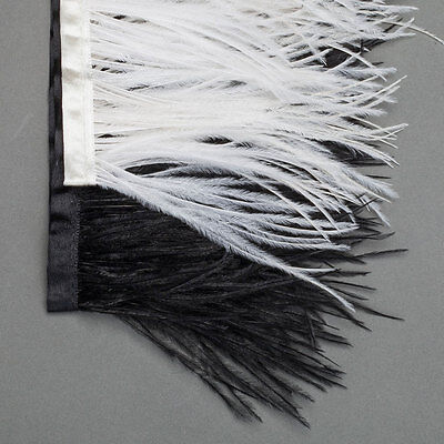 £5.99 • Buy Neotrim Real Ostrich Feather Quality Satin Ribbon Trimming Fringe 9-11cm,from UK
