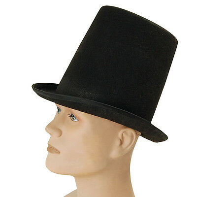 #Magicians Stovepipe Black Top Hat Adult Victorian & Gothic Fancy Dress Magic • 7.55£