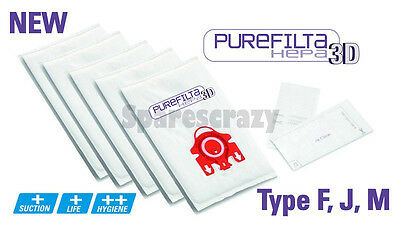 Compatible Type FJM MIELE S4210 & S4211 Hoover VACUUM HEPA 5 BAGS + 1 Filter • 4.94£