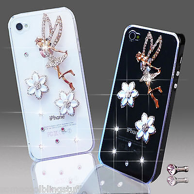 New 3d Delux Cool Bling Angel Tinkerbell Diamante Case For Various Mobile Phones • 4.99£