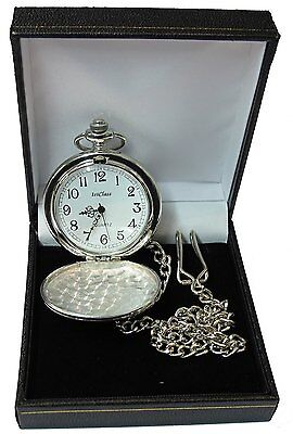 £8.99 • Buy Engraved Pocket Watch Father Of The Bride Groom Best Man Usher Wedding Gift