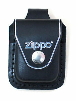 $10.67 • Buy Zippo Black Leather Lighter Pouch With Belt Loop, Item LPLBK, New In Box