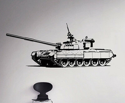 $26.99 • Buy Panzer Tank Wall Vinyl Decal Military Sticker Removable Home Art Decor 23(nse)