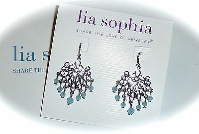 $ CDN23.34 • Buy Nwt - Lia Sophia  Seascape  Chandelier Earrings - Blue Glass Beads - 2014/$28