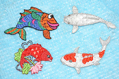 Fish Embroidered Motif Patch Badge Embroideries Japanese Koi Carp • 1.40£