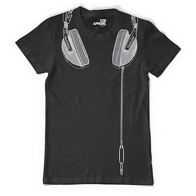 DMC Technics DJ Headphones - Premium Quality T-shirt Black/silver (s/m/l/xl/xxl) • 25£