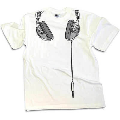DMC Technics DJ Headphones - Premium Quality T-shirt White/grey (s/m/l/xl/xxl) • 20£