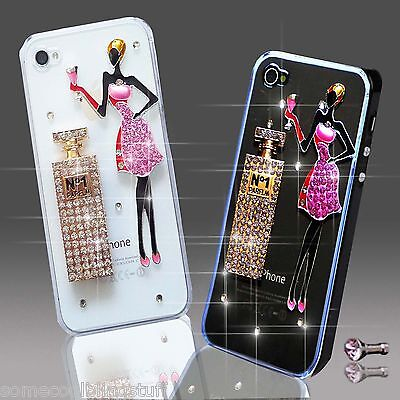 New 3d Delux Cool Bling Girl Perfume Diamante Case Cover 4 Various Mobile Phones • 5.99£