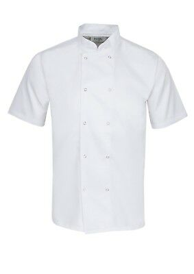 £13.99 • Buy Chefs Jacket, Clothing/aprons, Press Stud Buttons,half Sleeve, Unisex, New Ins07